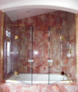shower door on both side