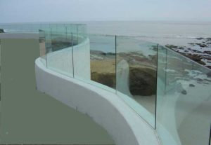 curving glass wall