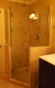 shower enclosure pony walls